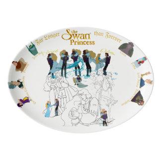 Swan Princess Sketch Platter Porcelain Serving Platter