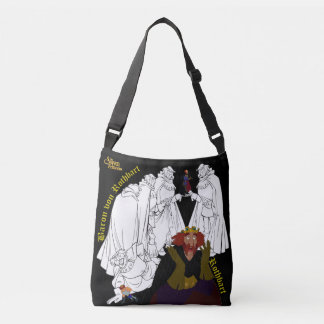 Swan Princess Two-Sided Cross Body Bag(Black) Crossbody Bag