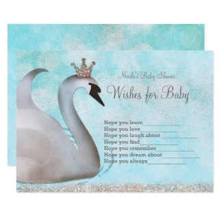 Swan Princess Wishes for Baby Shower Game Card