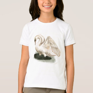 Swan Print on Kid's American Apparel Tee