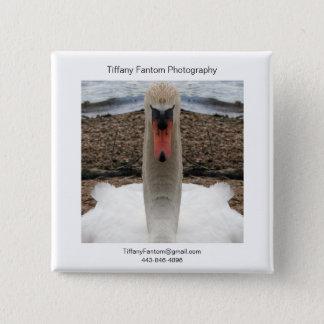 Swan Promo Piece 2 Inch Square Button