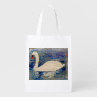 Swan Reflections Grocery Bags