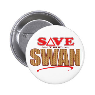 Swan Save 2 Inch Round Button