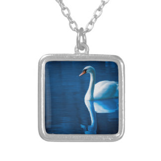 Swan Silver Plated Necklace