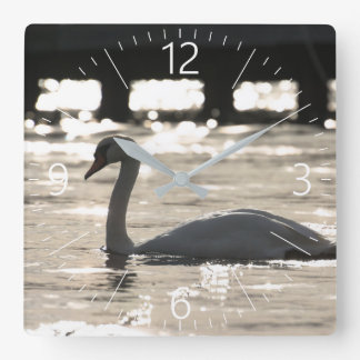 Swan Square Wall Clock