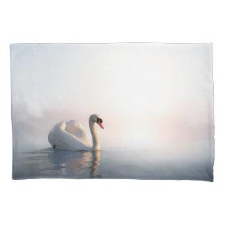 Swan Sunrise (1 side) Pillowcase