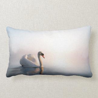 Swan Sunrise Lumbar Pillow