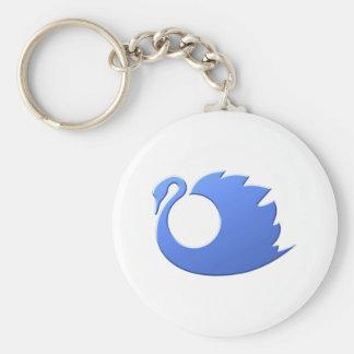 Swan swan keychain