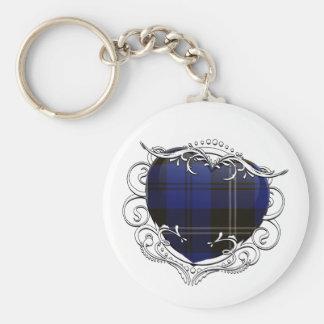Swan Tartan Heart Keychain