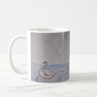 swan & unicorn parallel universe mug