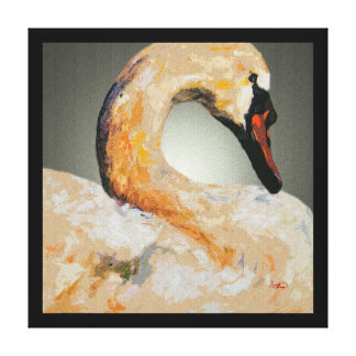 Swan Wall Art Elegant Home Decor Customizable Stretched Canvas Print