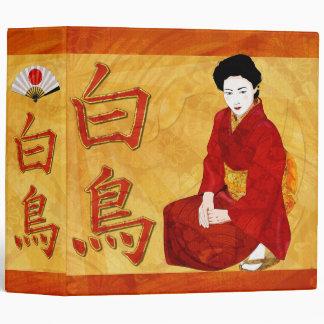 SwanGeisha Japanese Folk Art Binders