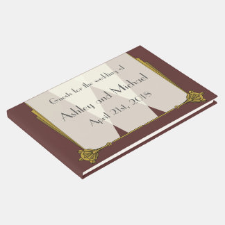 Swanky Art Deco in Red Guest Book