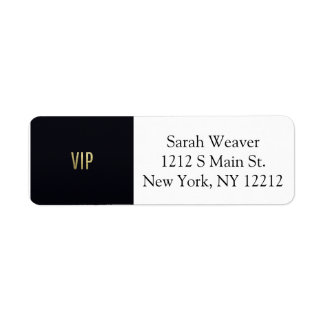 "Swanky Faux Gold Leaf Foil ""VIP"" Typography"