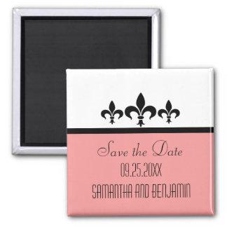 Swanky Fleur De Lis Save the Date Magnet