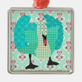 Swanky Swan I Ornament
