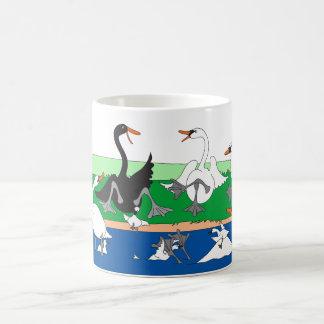 Swanna Talk?  Swans Lakeside Coffee Mug