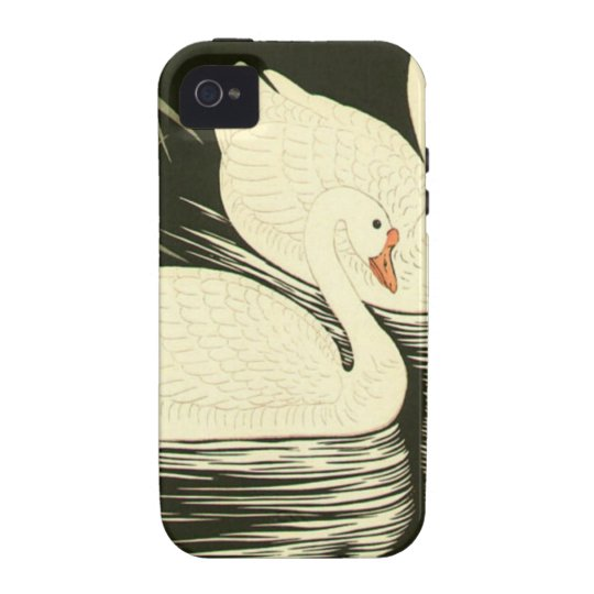 Swans and Reeds Case-Mate iPhone 4 Cases