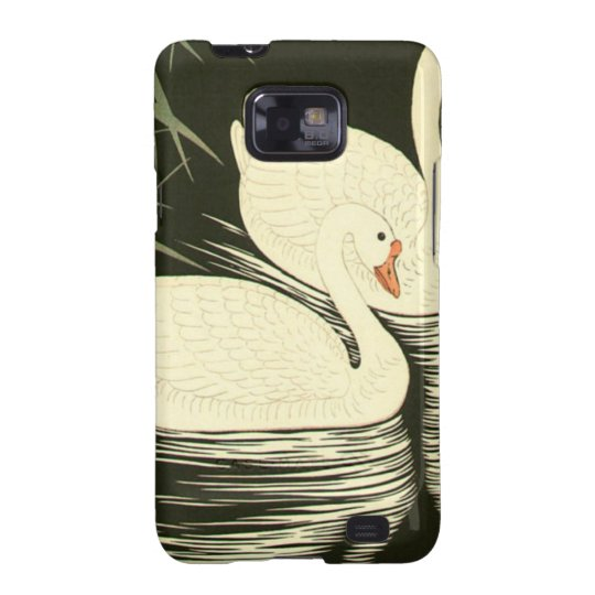 Swans and Reeds Galaxy S2 Cover