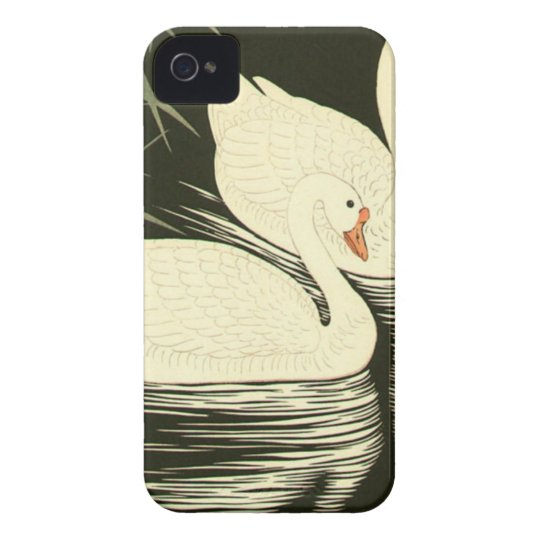 Swans and Reeds iPhone 4 Case