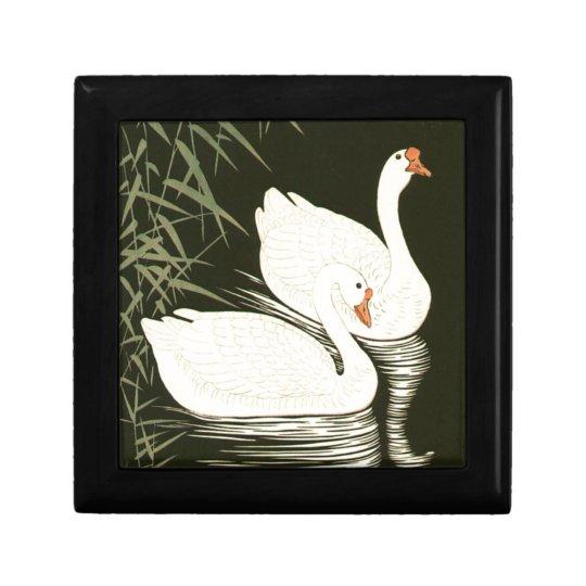 Swans and Reeds Keepsake Box
