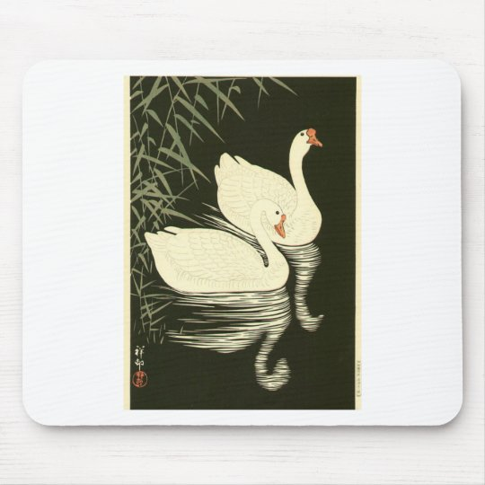 Swans and Reeds Mouse Pad