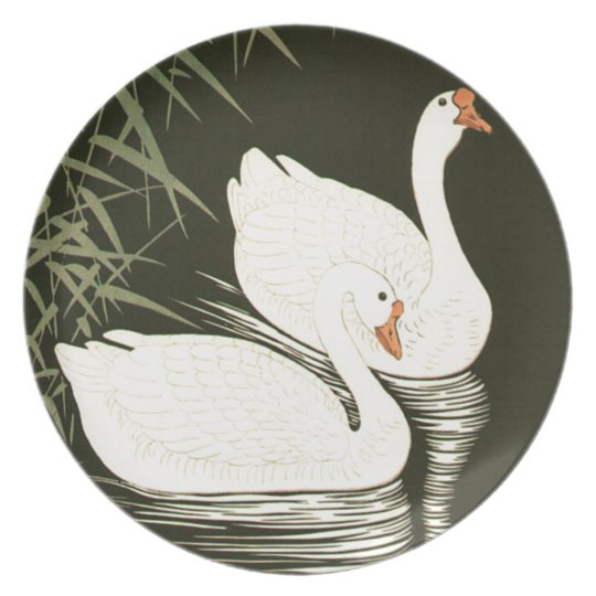 Swans and Reeds Party Plate