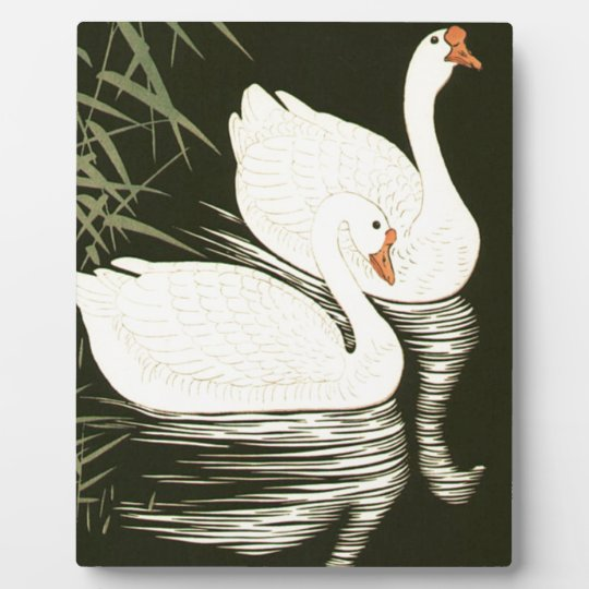 Swans and Reeds Plaque