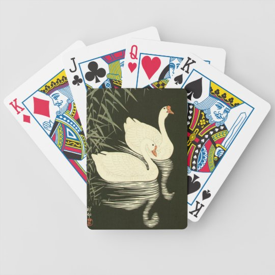 Swans and Reeds Poker Deck