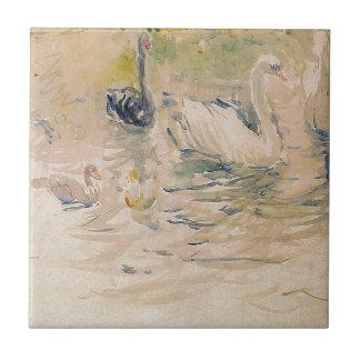 Swans by Berthe Morisot Tile