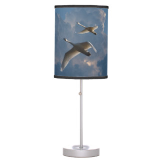 SWANS IN FLIGHT TABLE LAMP
