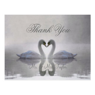 Swans in Love ~ Postcard / Invitations