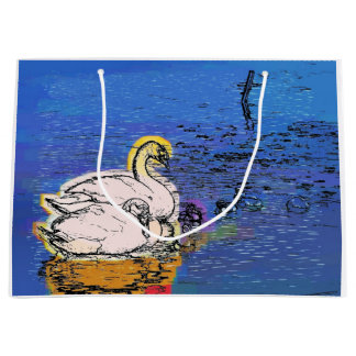 SWANS LARGE GIFT BAG