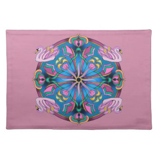 Swans of Pink Placemat