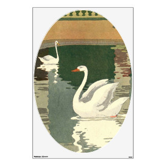 Swans on Castle Lake Wall Decal