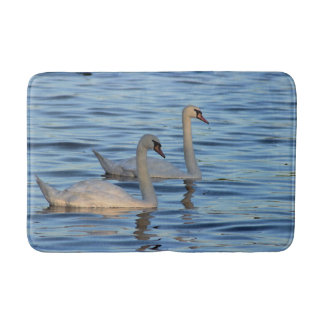Swans Photo Bath Mat