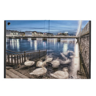 Swans shadows at Geneva lake, Switzerland Cover For iPad Air