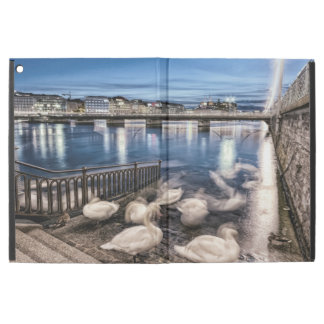 "Swans shadows at Geneva lake, Switzerland iPad Pro 12.9"" Case"