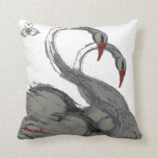 swans throw pillow