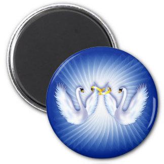 Swan's Wedding 2 Inch Round Magnet