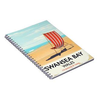 Swansea Bay Wales Seaside poster Notebook