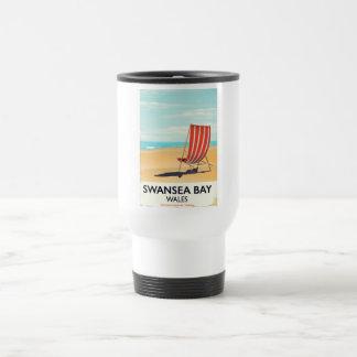 Swansea Bay Wales Seaside poster Travel Mug