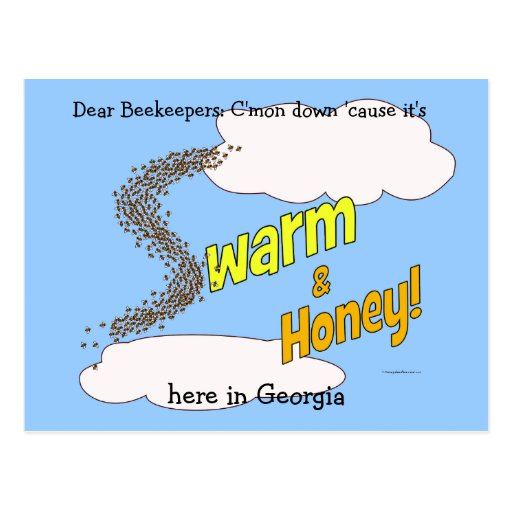 Swarm & Honey - Postcards (customizable)