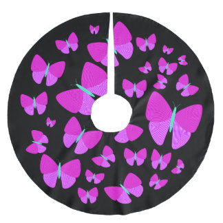 Swarm of Artistic Butterflies Tree Skirt Brushed Polyester Tree Skirt