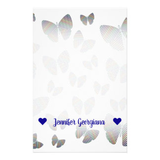 Swarm of Butterflies With Colorful Striped Wings Stationery
