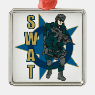 SWAT Police Officer Metal Ornament