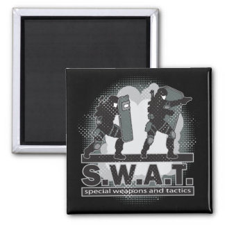 SWAT Team Entrance Square Magnet