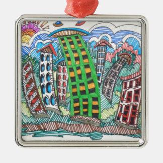 SWAY CITY Silver-Colored SQUARE ORNAMENT