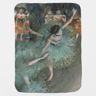 Swaying Dancer, Dancer in Green by Edgar Degas Stroller Blanket