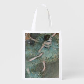 Swaying Dancer - Edgar Degas Reusable Grocery Bag